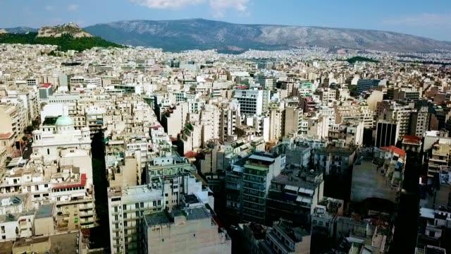 vídeos de stock, filmes e b-roll de vista aérea de atenas - grécia - atenas grécia