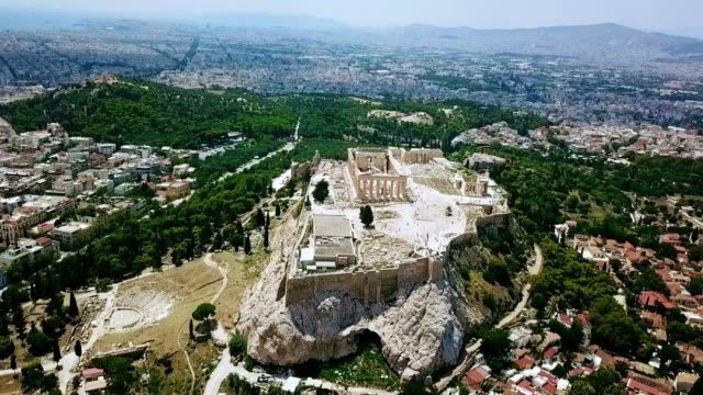 aerial view of athens - greece - greek architecture stock videos & royalty-free footage