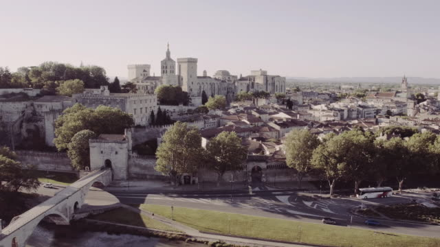 Aerial View of 'Avignon, France video