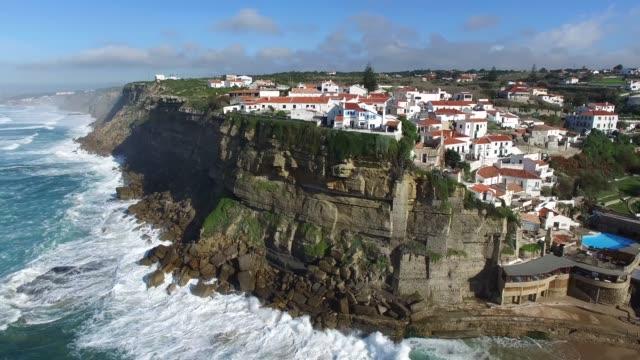 Aerial View of Azenhas do Mar, Portugal video