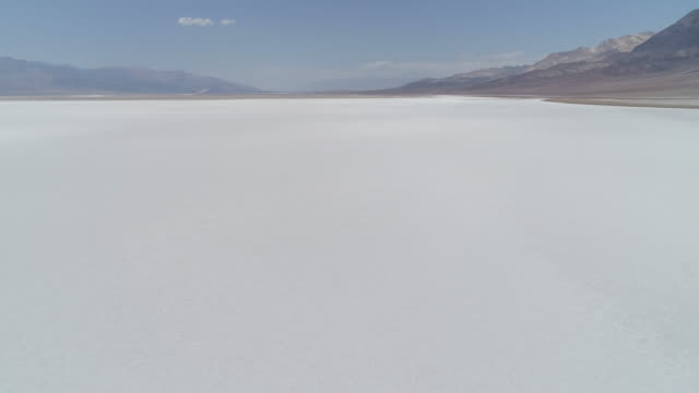 Aerial view of Badwater Basin Aerial view of Badwater Basin salt flat stock videos & royalty-free footage