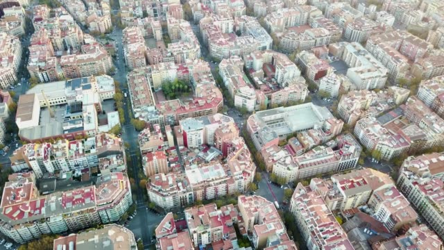 Aerial view of Barcelona video