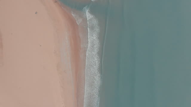 Aerial view of beach and sea video