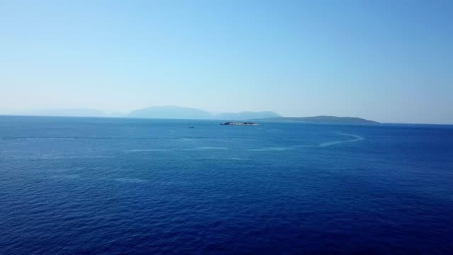 Aerial view of beautiful blue sea Aerial view of beautiful blue sea aircraft point of view stock videos & royalty-free footage