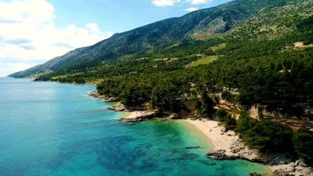 Aerial view of Beautiful coast of Croatia and Dalmatia video
