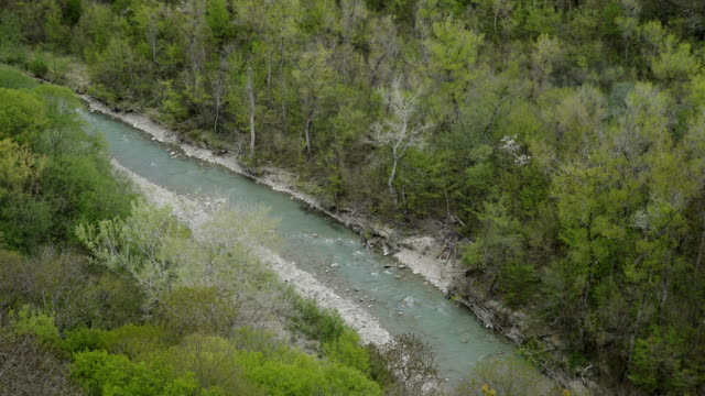 Aerial View of beautiful mountain River video