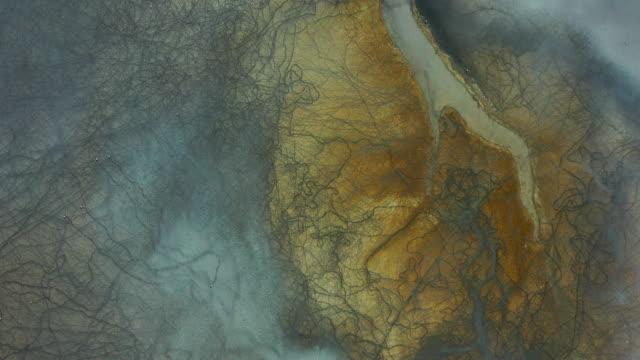 vídeos y material grabado en eventos de stock de vista aérea de hermosas formas y texturas naturales - diseño natural