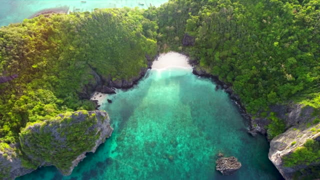 Aerial view of beautiful tropical island