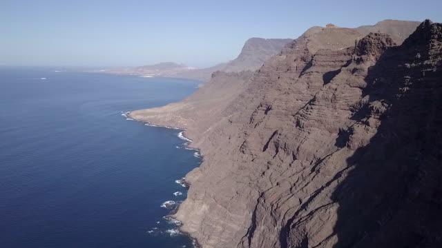 Aerial View of Beautiful Wild Coastline in Canary Island