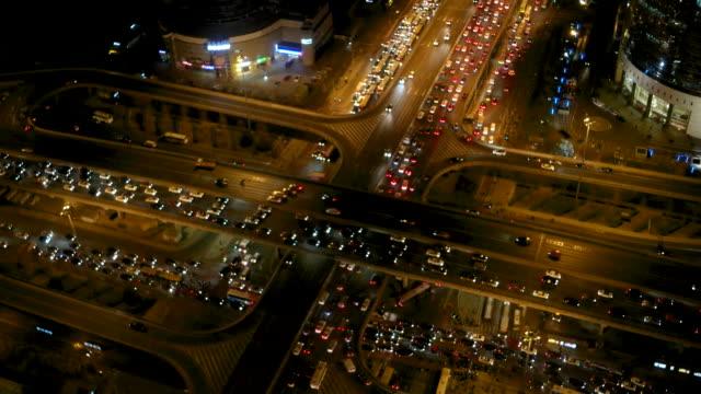 Aerial View of Beijing Traffic Jam / Beijing, China video