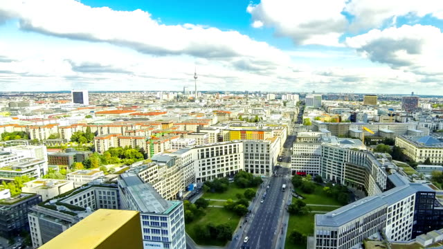 Aerial view of Berlin center, Germany