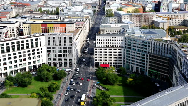 Aerial view of Berlin city center, Germany video