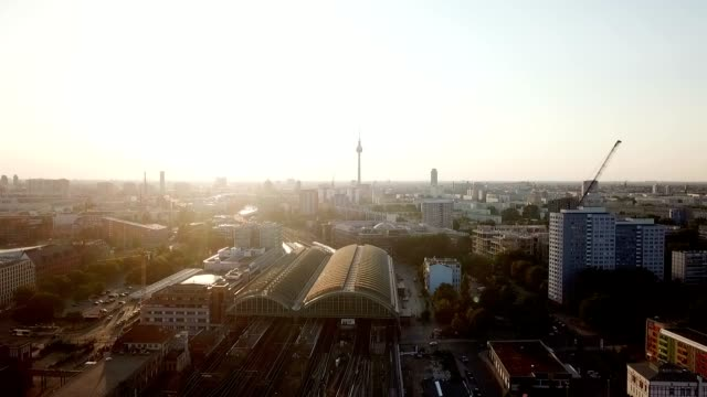 Aerial View of Berlin - Germany Aerial View of Berlin  / Germany - 50 FPS Video wide angle stock videos & royalty-free footage
