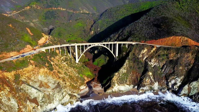 Aerial view of Bixby Bridge video