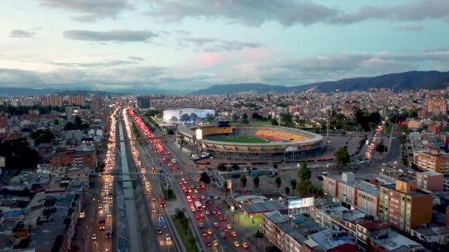 vídeos y material grabado en eventos de stock de vista aérea de bogotá, colombia. - colombia
