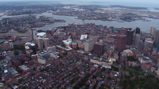 Aerial view of Boston, Massachusetts video