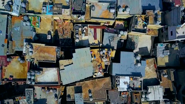 aerial view of bourj el-barajneh - southern beirut - fuggitivo video stock e b–roll