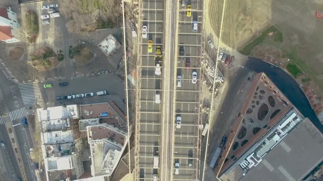 Aerial view of Brooklyn Bridge, New York City. video
