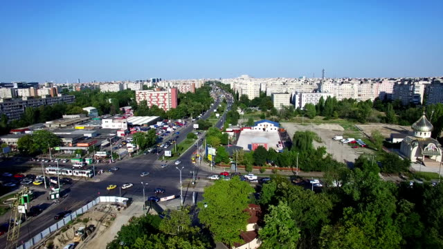 Aerial view of Bucharest city, Romania video