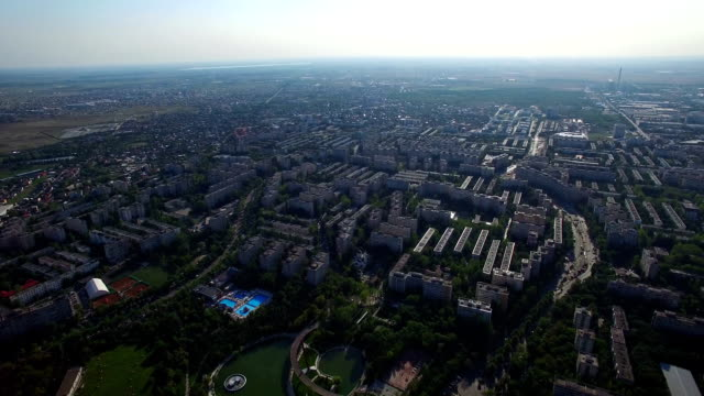 Aerial view of Bucharest, Moghioros park, Romania video