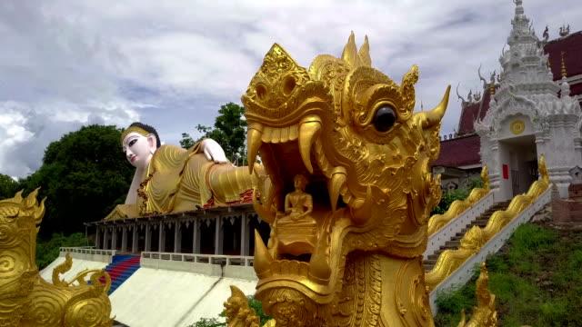 Aerial View of Buddhist Temple Wat Phra That Suthon Monkhon Khiri video