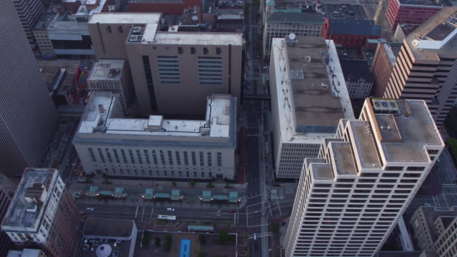 Aerial view of buildings in Cincinnati, Ohio video