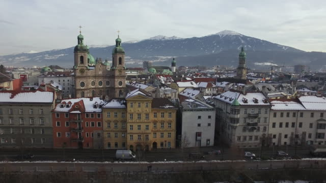 flygvy över byggnader i innsbruck - delstaten tyrolen bildbanksvideor och videomaterial från bakom kulisserna