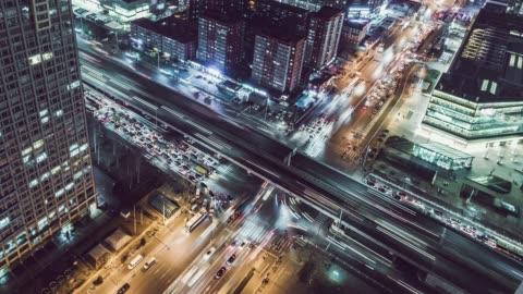 vídeos y material grabado en eventos de stock de t/l zo vista aérea de ciudad próspera y ocupada / beijing, china - desarrollo