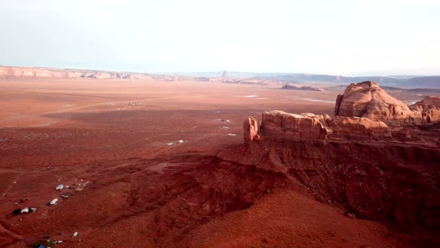 4K Aerial view of buttes near Monument Valley National Park