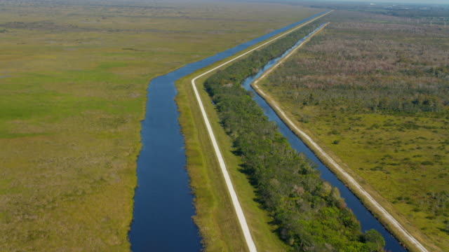 Aerial view of canals video