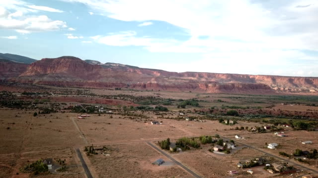 4K Aerial view of canyons near Capitol Reef