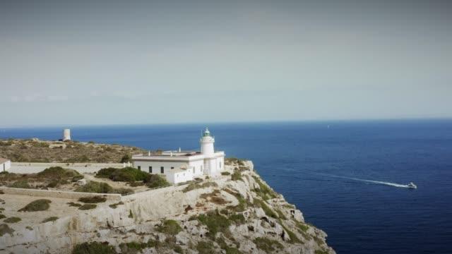 Luftaufnahme von Cap Blanc, einem der schönsten Orte Mallorcas, Spanien – Video