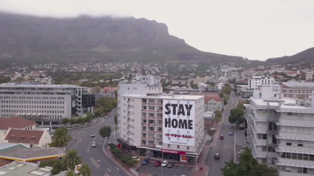 Aerial view of Cape Town, empty streets during Corona Virus lockdown Aerial view of Cape Town, empty streets during the Corona Virus lockdown cape town stock videos & royalty-free footage