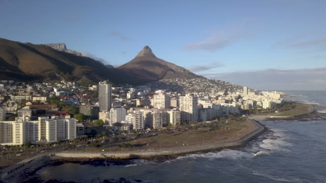 Aerial view of Cape Town, South Africa Aerial view of Table Mountain and Cape Town, South Africa cape peninsula stock videos & royalty-free footage