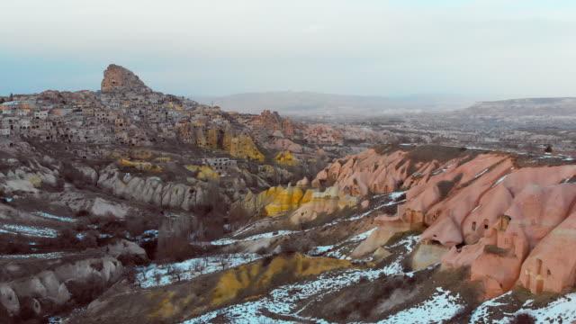 Aerial view of Cappadocia in Winter