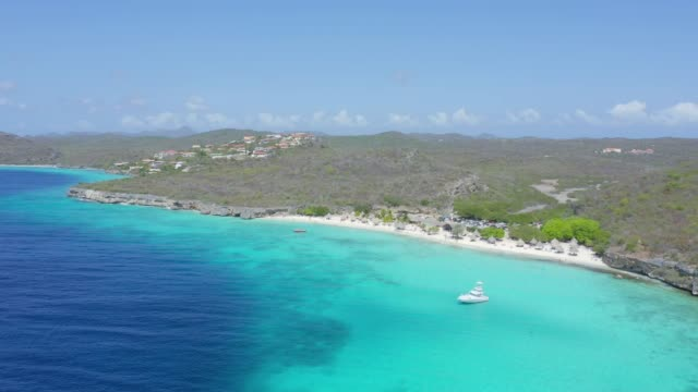 Aerial View of Cas Abao Beach and Coastal Feature in Curacao Aerial View of Cas Abao Beach and Coastal Feature in Curacao curaçao stock videos & royalty-free footage