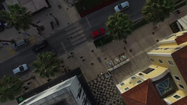 aerial view of cascais, portugal - lisbona video stock e b–roll