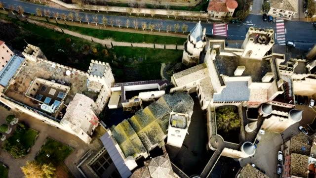Aerial view of castle Palacio Real de Olite