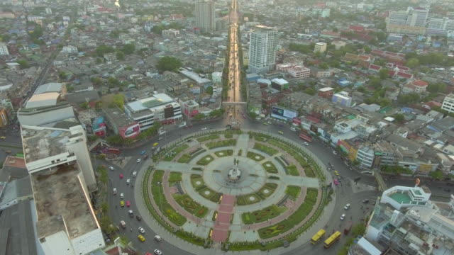 Aerial View of Circle Traffic video