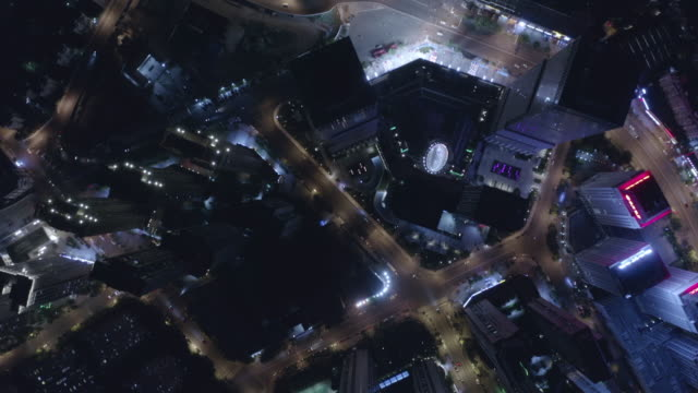Aerial view of city night video