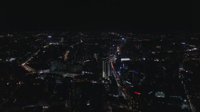 Aerial view of city video