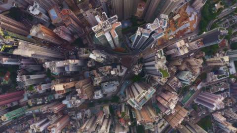 vidéos et rushes de vue aérienne du paysage urbain à hong kong en chine - paysage urbain