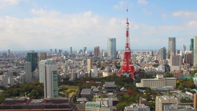 hd -空から見た景観東京,日本 - 東京タワー点の映像素材/bロール