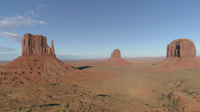 Aerial view of cliffs in Monument Valley