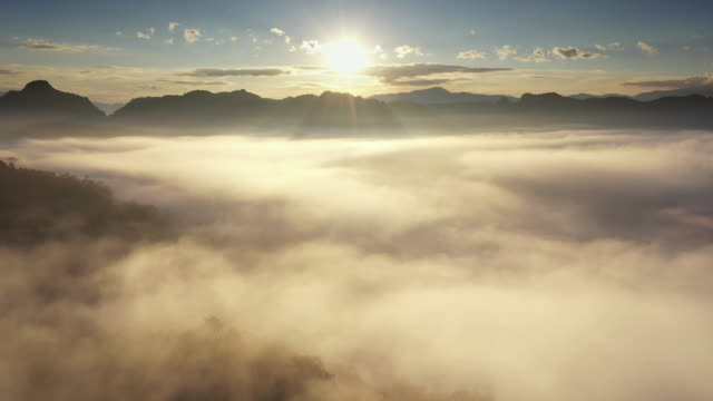 Aerial view of Cloud in Natural Aerial view of Cloud in Natural mountain stock videos & royalty-free footage