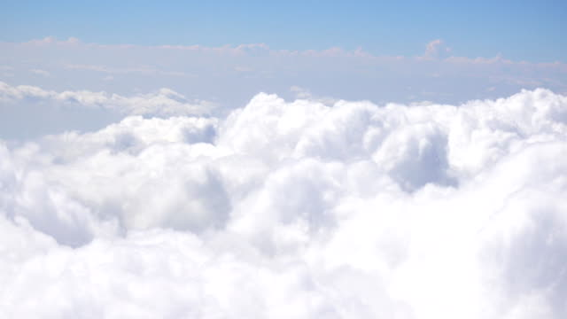 Aerial view of clouds and sky seen from a Plane video