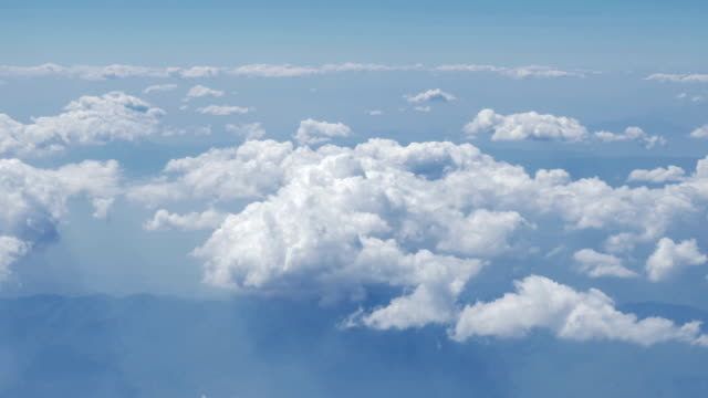 Aerial view of clouds,rivers,mountains from airplane,Thailand video