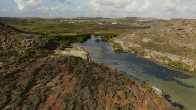 Aerial view of coastal areas of Curaçao Details of ocean elements of Curaçao curaçao stock videos & royalty-free footage