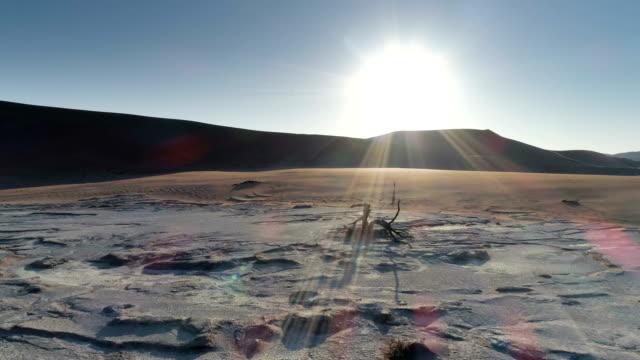 ソーサス フライで死んで vlei の航空写真 - 乾燥点の映像素材/bロール