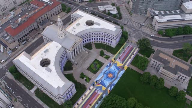 Aerial view of Denver City Council building